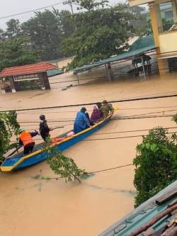 Ảnh lũ lụt trường MN Quảng Thủy tháng 10-2020